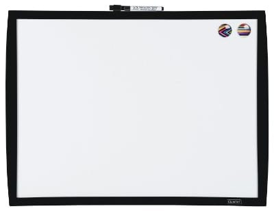 Quartet Magnetic Whiteboard, 17 x 23 Dry Erase Board, White Board, Black Frame (34608-BK)