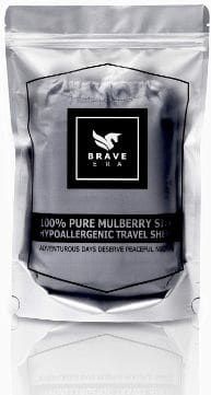 Brave Era Naturally Hypoallergenic 100% Mulberry Silk Travel Sheet