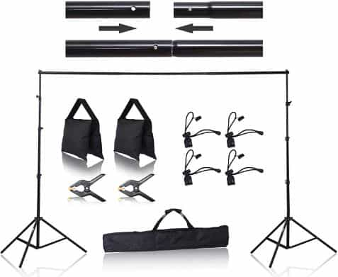 Emart 8.5 x 10 ft Photo Backdrop Stand, Adjustable Photography Muslin Background Support