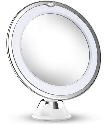 Updated 2019 Version 10X Magnifying Makeup Vanity Mirror with Lights