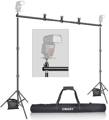 Backdrop Stand, Emart 7x10ft Photo Video Studio Muslin Background Stand Backdrop Support System