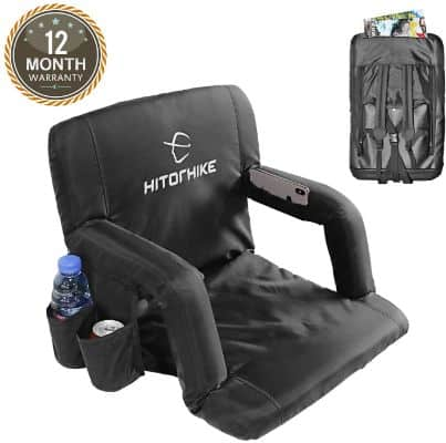 Hitorhike Stadium Seat for Bleachers or Benches Portable Reclining Stadium Seat Chair