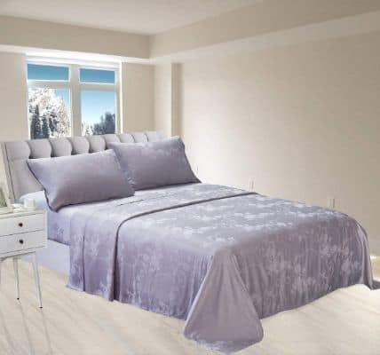 New Season Home Itallian Silver Queen Silk Sheet Set