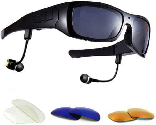 Forestfish Video-Glasses with Headset 16GB HD 1080P Video Recorder Camera Glasses