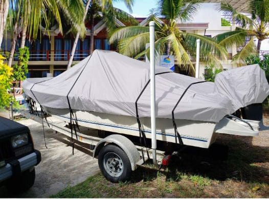 RVMasking 800D 100% Waterproof Trailerable Boat Cover