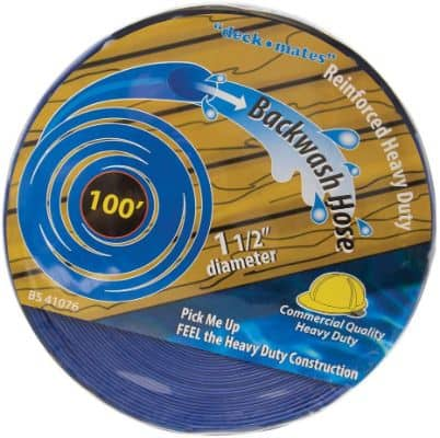 Blue Torrent BS 41076 Commercial Backwash Hose for Swimming Pools, 100' x 1.5