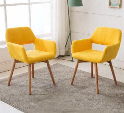 Lansen Furniture (Set of 2) Modern Living Dining Room Accent Arm Chairs