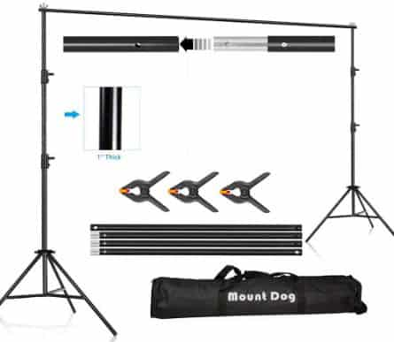 MOUNTDOG 6.5ftx10ft Backdrop Support Stand Adjustable Photography Studio Background Support