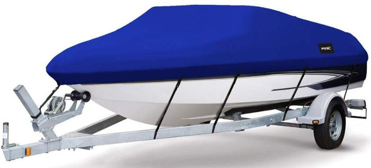 MSC Heavy Duty 600D Marine Grade Polyester Canvas Trailerable Waterproof Boat Cover