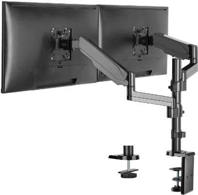 WALI Premium Dual LCD Monitor Desk Mount Fully Adjustable Gas Spring Stand