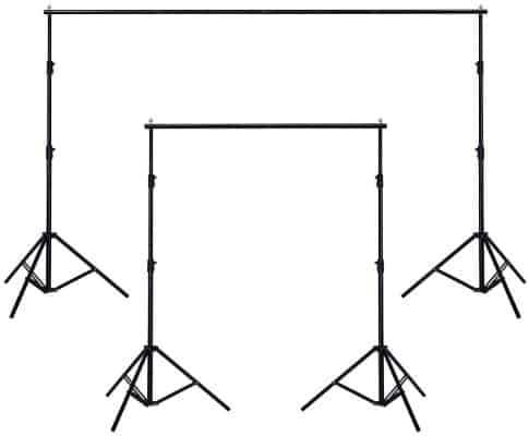 AW 10ft Adjustable Photography Background Support Stand Portable Photo Backdrop