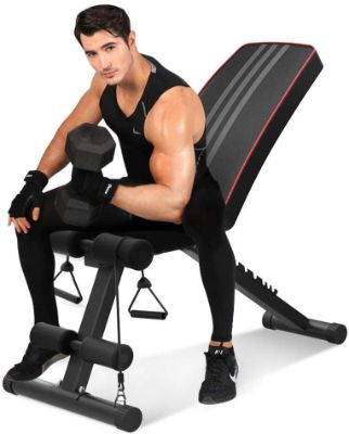 Bigzzia Adjustable Olympic Weight Bench