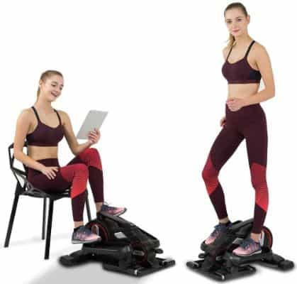 JOROTO Desk Elliptical Mini Stepper - Under Desk Elliptical Steppers for Exercise