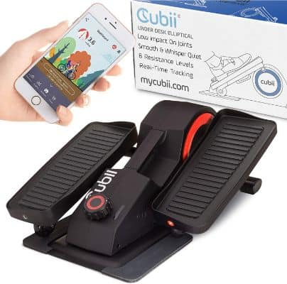 Cubii Pro - Seated Under-Desk Elliptical - Get Fit While You Sit - Bluetooth Enabled