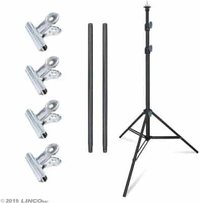 Linco Lincostore Zenith Portable T-Shape Background Backdrop Stand Kit