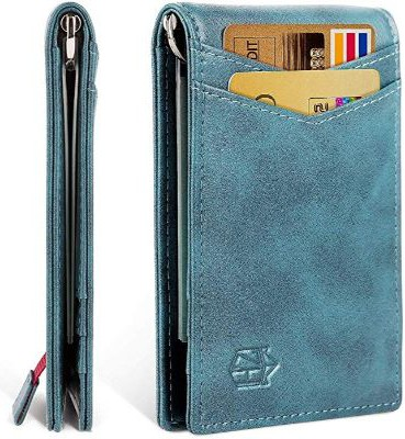 Minimalist Slim Bifold Front Pocket Wallet with Money Clip for Men