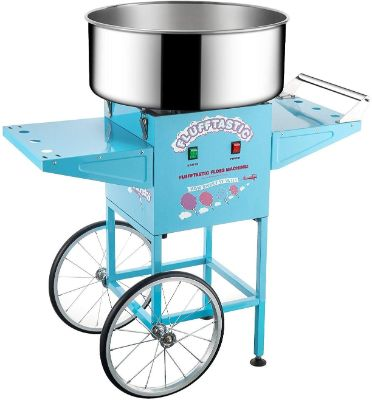 6315 Great Northern Popcorn Flufftastic Cotton Candy Machine Floss Maker With Cart