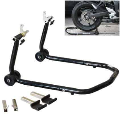 ALPHA MOTO All in One Front Or Rear Universal Sportbike Motorcycle Lift Stand