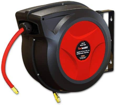 REELWORKS Air:Water Hose Reel Automatic Retractable 3:8 Inch x 50' Feet
