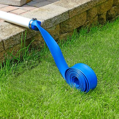 Blue Devil 25-Foot Backwash Hose for Pool with Hose Clamp, 1-1:2 W x 25' L