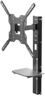 Full Motion Wall Mount Bracket with Height Adjustment Support Shelf for Medium 32~55in TVs up to 66 lbs