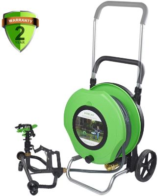 IRRIGLAD Mechanical Fully Automatic Irrigation Garden Hose Reel Cart