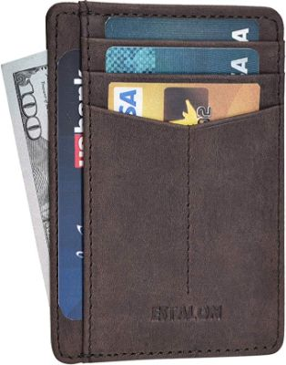 Slim Wallets for Men & Women with RFID - Front Pocket Leather Thin Minimalist Wallet