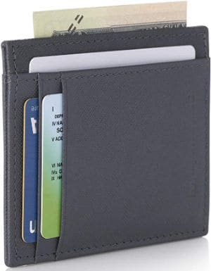 Alpine Swiss RFID Mens Thin Minimalist ID Card Case Slim Front Pocket Wallet