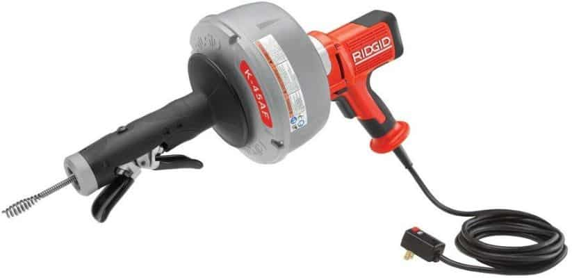 Ridgid 36003 K-45AF-5 Auto-Feed Drain Cleaning Machine with C-1IC 5:16 In. Inner Core Cable