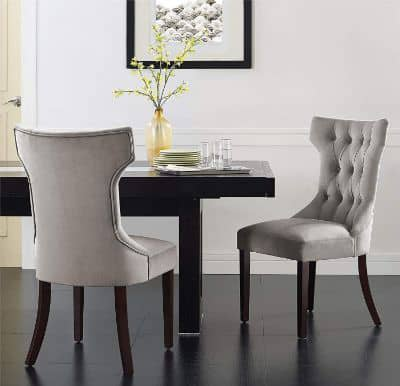 Dorel Living Clairborne Tufted Dining Chair