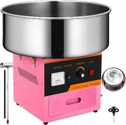 Happybuy Candy Floss Maker 20.5 Inch Commercial Cotton Candy Machine Stainless Steel