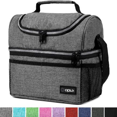 Insulated Dual Compartment Lunch Bag for Men
