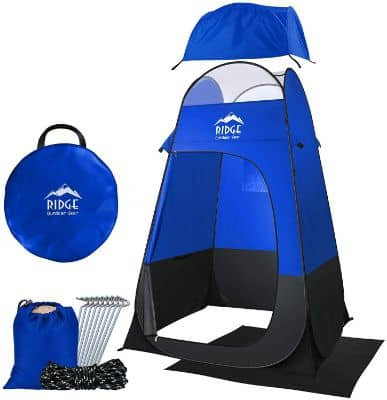 Ridge Outdoor Gear 6.5ft Camping Shower Tent