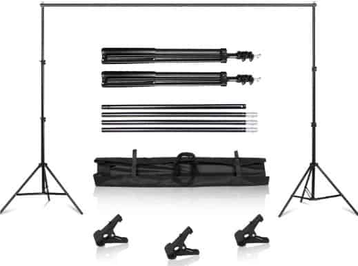 SH Background Stand, 6.5 x 10FT Heavy Duty Background Stand, 2x3M Backdrop Support System