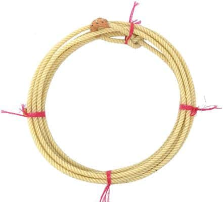 AJ Tack Wholesale Kid Rodeo Lasso Lariat Rope with Burner Medium Lay 20ft Made in the USA