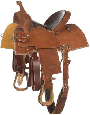 NRS Competitor Series Chestnut Youth Roughout Barrel Racing Saddle