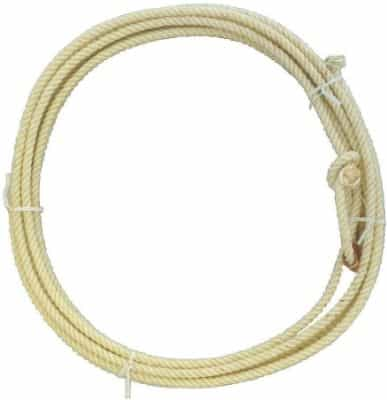 AJ Tack Wholesale Adult Rodeo Lasso Lariat Rope Hand Sewn Leather Burner 30 Feet Made in USA Waxed
