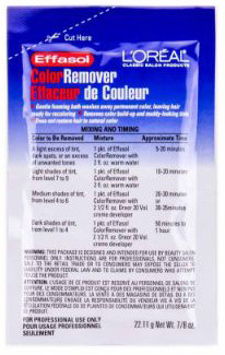 Loreal Effasol Color Remover 7:8oz Packet