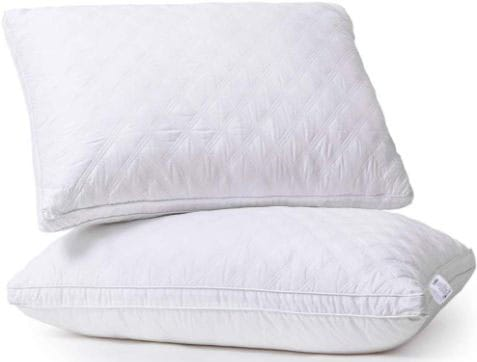 Sable Pillows for Sleeping, 2 Pack Goose Down Alternative Quilted