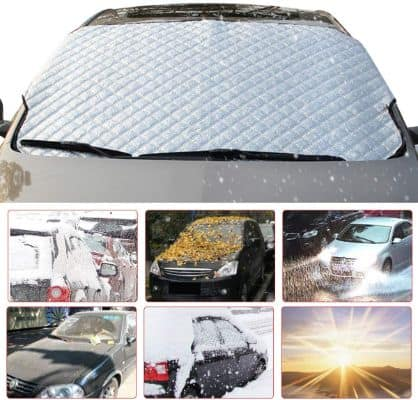 MATCC Car Windshield Snow Cover Winter Frost Guard Windshield Snow and Ice Cover Thicker Snow Protection