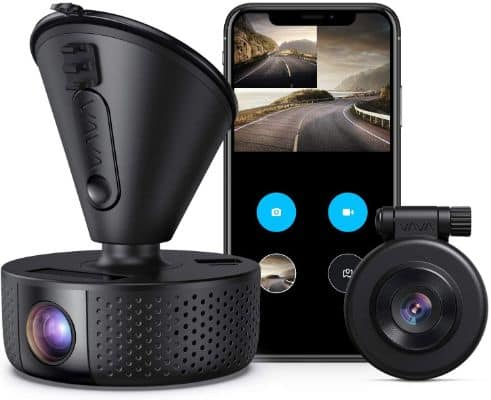 Dual Dash Cam, VAVA Dual 1920x1080P FHD Front and Rear Dash Camera (2560x1440P Single Front) for Cars