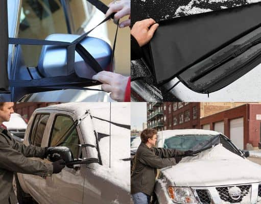 Frostguard Pro | Premium Windshield Cover for Ice and Snow with Wiper Blade Cover | Standard Size Windshield