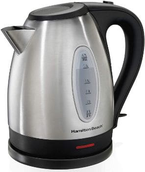 Hamilton Beach Electric Tea Kettle, Water Boiler & Heater, 1.7 L, Cordless, Auto-Shutoff, and Boil-Dry Protection
