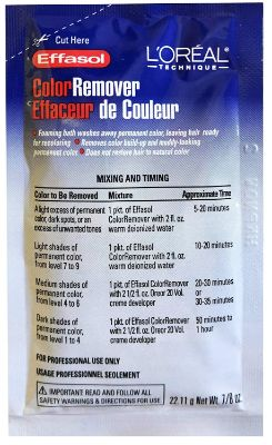 L'OREAL Effasol Color Remover 0.86oz:22.11g (Quantity- 1 Application) by L'Oreal
