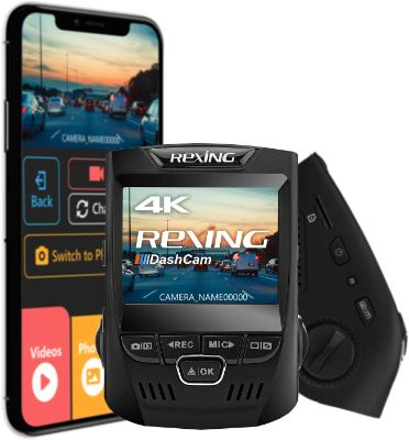 Rexing V1 3rd Generation 4K UHD WiFi Car Dash Cam 2.4 LCD 170° Wide Angle Dashboard Camera Recorder