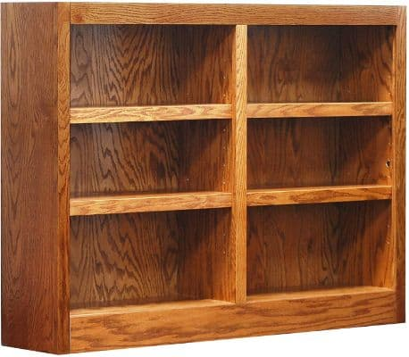 Concepts in Wood MI4836 6 Shelf Double Wide Wood Bookcase