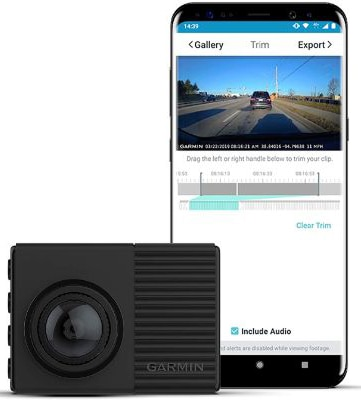 Garmin Dash Cam 66W, Extra-Wide 180-Degree Field of View In 1440P HD, 2 LCD Screen and Voice Control