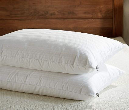 downluxe Goose Feather Down Pillow - Set of 2 Bed Pillows