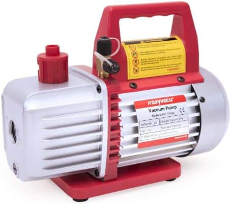 Kozyvacu TA350 Single-Stage Rotary Vane Vacuum Pump for HVAC:Auto AC Refrigerant Recharging