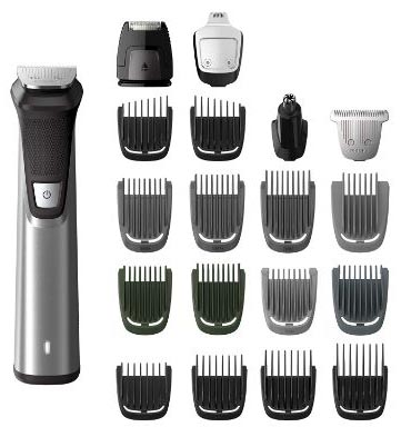Philips Norelco MG7750:49 Multigroom Series 7000, Men's Grooming Kit with Trimmer for Beard, Head